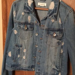 Distressed blue jean jacket never worn